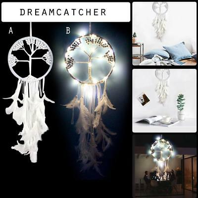White Tree Of Life Shaped Dream Catcher Weddings Home Wall Hanging Pendant Decor