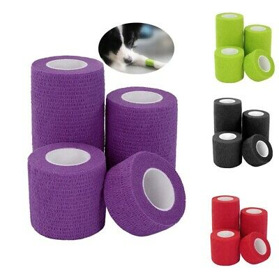 1PC Cohesive Bandage First Aid Medical Treatment Self Adherent Elastic Wrap Tape