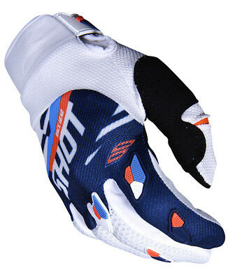 New 2019 Shot Score Motocross Enduro Quad Bike Mx Glove Blue Neon Orange