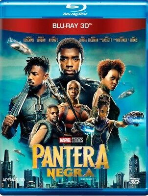 Blu-ray Black Panther 3D region free sealed 7.1 audio Marvel