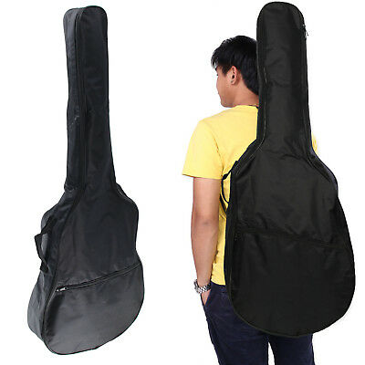 "41"" Full Size Protective Classical Acoustic Guitar Back Bag Carry Case Black"