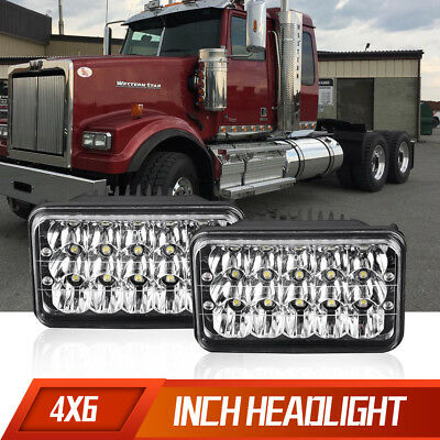 "DOT Pair 4x6"" LED Headlights Sealed Beam Light Bulbs Replace H4656/4651 Headlamp"