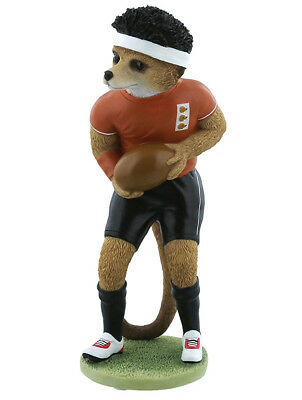 Country Artists Magnificent Meerkats Eddie Rugby Figurine BRAND NEW - UK Seller