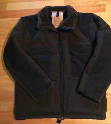 NEW US GI Military Cold Weather Brown Bear Jacket Fleece Sherpa Lined Men Sz L