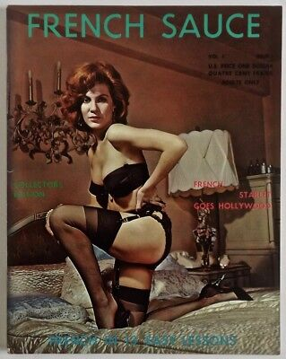 Complete Rare 1950s Vol.1 #1 French Sauce Men's Girlie Magazine Pin-Up Nude Racy