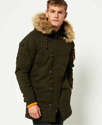 New Mens Superdry SD-3 Parka Jacket Army