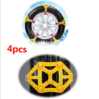 4PCS Snow Tire Chain for Car Truck SUV Anti-Skid Emergency Winter Driving