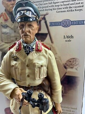 "1/6th CS00254 COLLECTORS SHOWCASE  ""ERWIN ROMMEL"" - TOBRUK - LTD 500 - RETIRED."