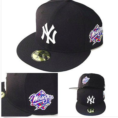 New York Yankees New Era 1999 World Series Retro 59FIFTY Fitted Hat 8 Navy