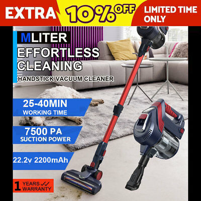 2in1 Cordless Handheld Stick Vacuum Cleaner 8000Pa 2000mAh Rechargeable Battery