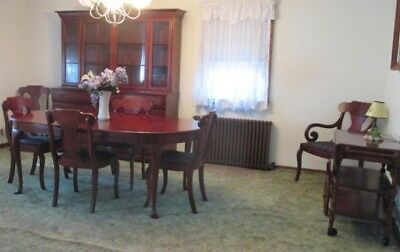 Solid Wood Vintage Dining Room Set