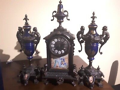 Imperial Mantle Clock with Side Urns