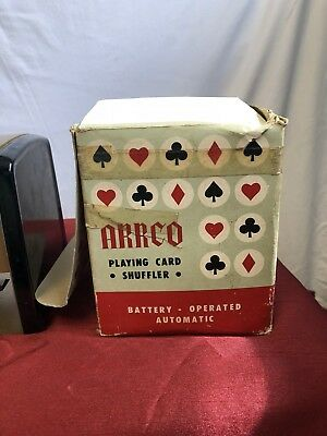 Vintage ARRCO Automatic Playing Card Shuffler Battery Operated Gold/Black