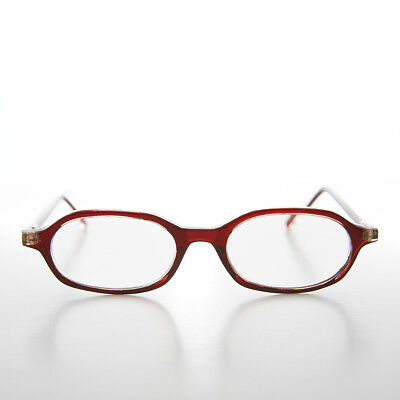 a9d649f4e95 Red Oval Half Frame Reading Glasses 2.25 diopter - Holly