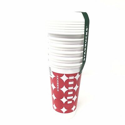 Starbucks 16oz Reusable Cups With Lids 5 Pack Pink Dots Coffee Cup Mug NEW!