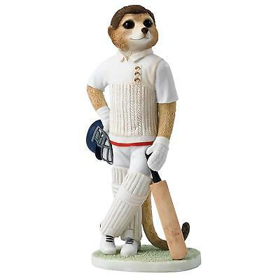 Country Artists Magnificent Meerkats Waiting to Bat Cricket Figurine - BRAND NEW
