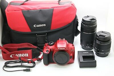 Canon Rebel T6 with EF-S 18-55mm Lens EOS DS126621 Digital Camera W/ 75-300mm