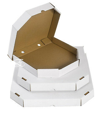 9''INCH  100 PIZZA BOXES 100 Plain White Pizza Boxes Takeaway Box