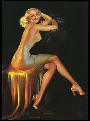 Vintage Irene Patten 1930s Art Deco Opulent Blonde Pin-up Print Personality Rare