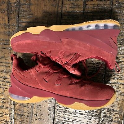 6f898a2a00e Nike Lebron XIII Low Premium Team Red Maroon AH8289 600 Men s Size 10  NoBoxLid