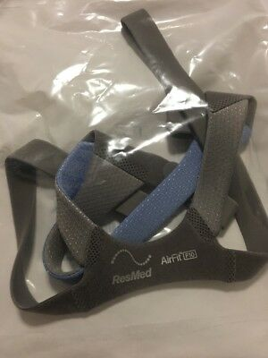 Resmed Airfit F10 Headgear/Strap 63164 Standard, Blue,Genuine OEM Factory Sealed