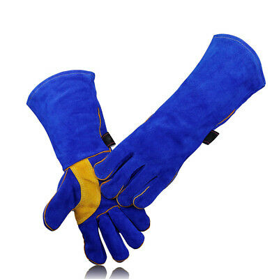 Welding Gloves Resistant Oven Fireplace Cowhide 16 Inch Durable Solid Hot Sale