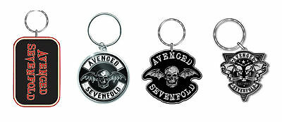 Avenged Sevenfold Keyring Keychain Death Bath Band Logo Official New
