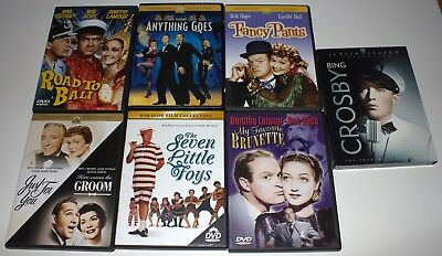 Lot of 12 Movies BOB HOPE BING CROSBY DVD's CLASSIC MOVIE COLLECTION