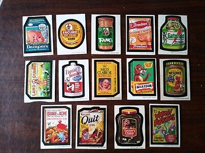 1973 Original Wacky Packages 3rd Series Lot of 14.
