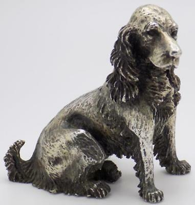 243g/8.5-oz. Vintage Solid Silver Italian Handmade Cocker Spaniel Dog, Stamped