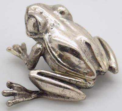 49g/1.7-oz. Vintage Solid Silver Italian Made REAL LIFE SIZE Frog, Stamped