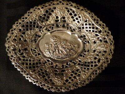 Early Victorian Sterling Silver Reticulated Fancy Small Bowl