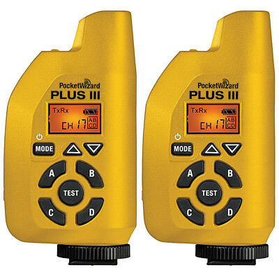 PocketWizard 801-131 Plus III Transceiver (Yellow) - 2 pack