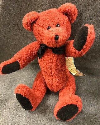 Vtg 1995 Boyds Bear Cavendish Red Jointed Investment Collectibles The Archive