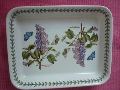 Portmeirion Large Oven Dish With Garden Lilac & Butterfly Design