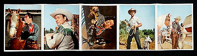 VERY RARE! 1949 & 1950 Vintage ROY ROGERS Color Fold-out 5 Photo Set by ROHR CO