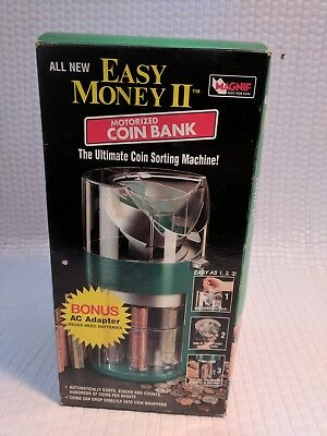 Magnif Easy Money 2 II Motorized Coin Sorting Bank. New With ac Adapter