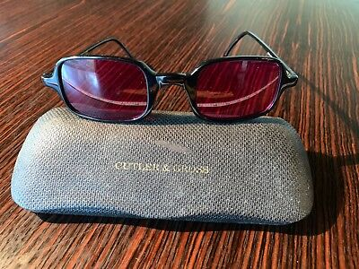 Cutler And Gross Vintage Rose Colored Sunglasses 0427 Handmade