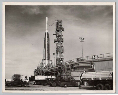1950's Vintage ATLAS ABLE ROCKET SM-65 Missile OFFICIAL AIR FORCE / NASA Photo