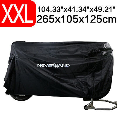 104'' 260CM Motorcycle Cover Waterproof Outdoor Snow Dust Protector For Harley