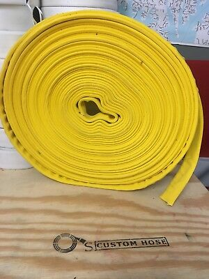 "1""  Yellow Double Jacket  x 100' Uncoupled Forestry Hose"
