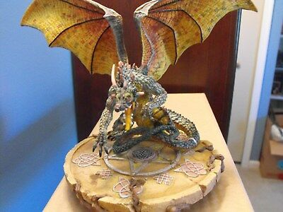 "Dragon Sculpture ""Portal"" AB20005 w/ Box & Cert The Dragonsite - Andrew Bill"
