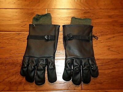 U.s Military Style D-3A Leather Gloves Cold Wet Weather Size 4 Medium W/liner