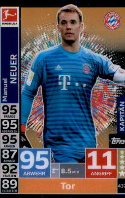 Topps Match Attax ACTION 18/19 - 437 - Manuel Neuer - Kapitän