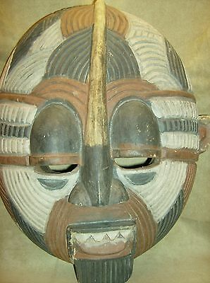 SONGYE LUBA KIFWEBE Mask DRC Wood Carved African Art Collectibles