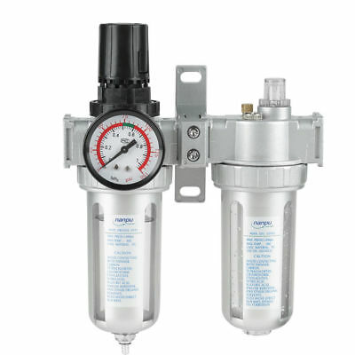 Compressor Filter Kit Air Water Trap Tools With/ Gauge Aluminum Alloy Separator
