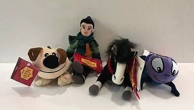The Disney Store Bean Bag - Lot of 4 - Mulan Movie - Pre-owned