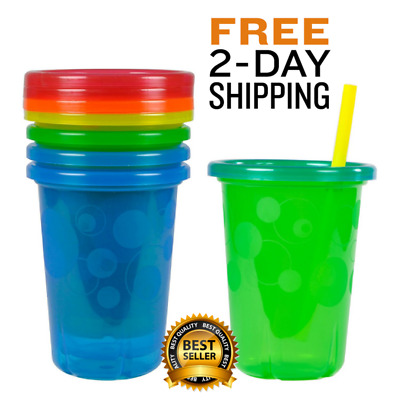 Kiddie Cup Flow Straw Liquid Sippers The First Years Take & Toss Spill-Proof Mug