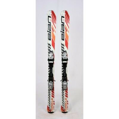 Ski occasion junior Elan Formula Blanc/rouge/orange + fixations
