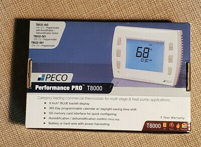 PROGRAMMABLE THERMOSTAT 3 Heat, 2 Cool PECO T8532-001